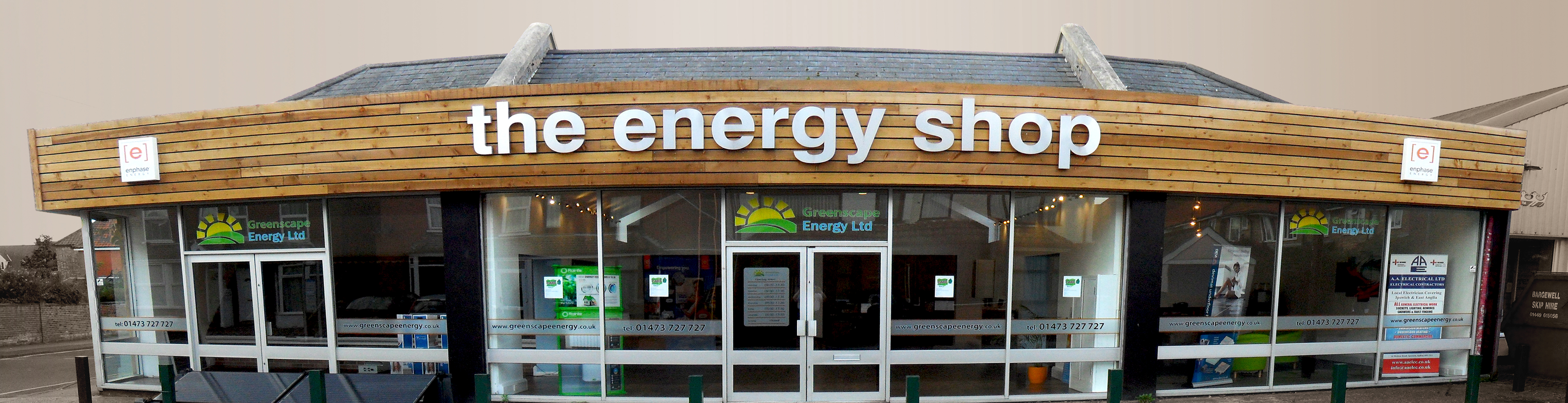 Image of The Energy Shop, Ipswich, Suffolk. The showroom for Greenscape Energy