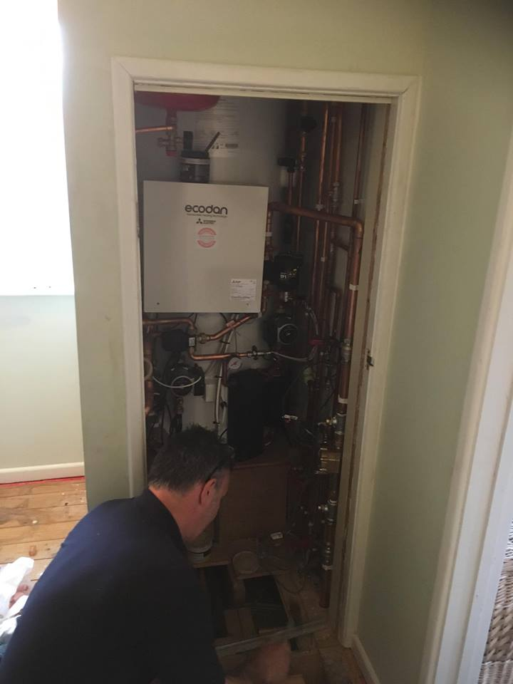 install image of mr tates air source heat pump