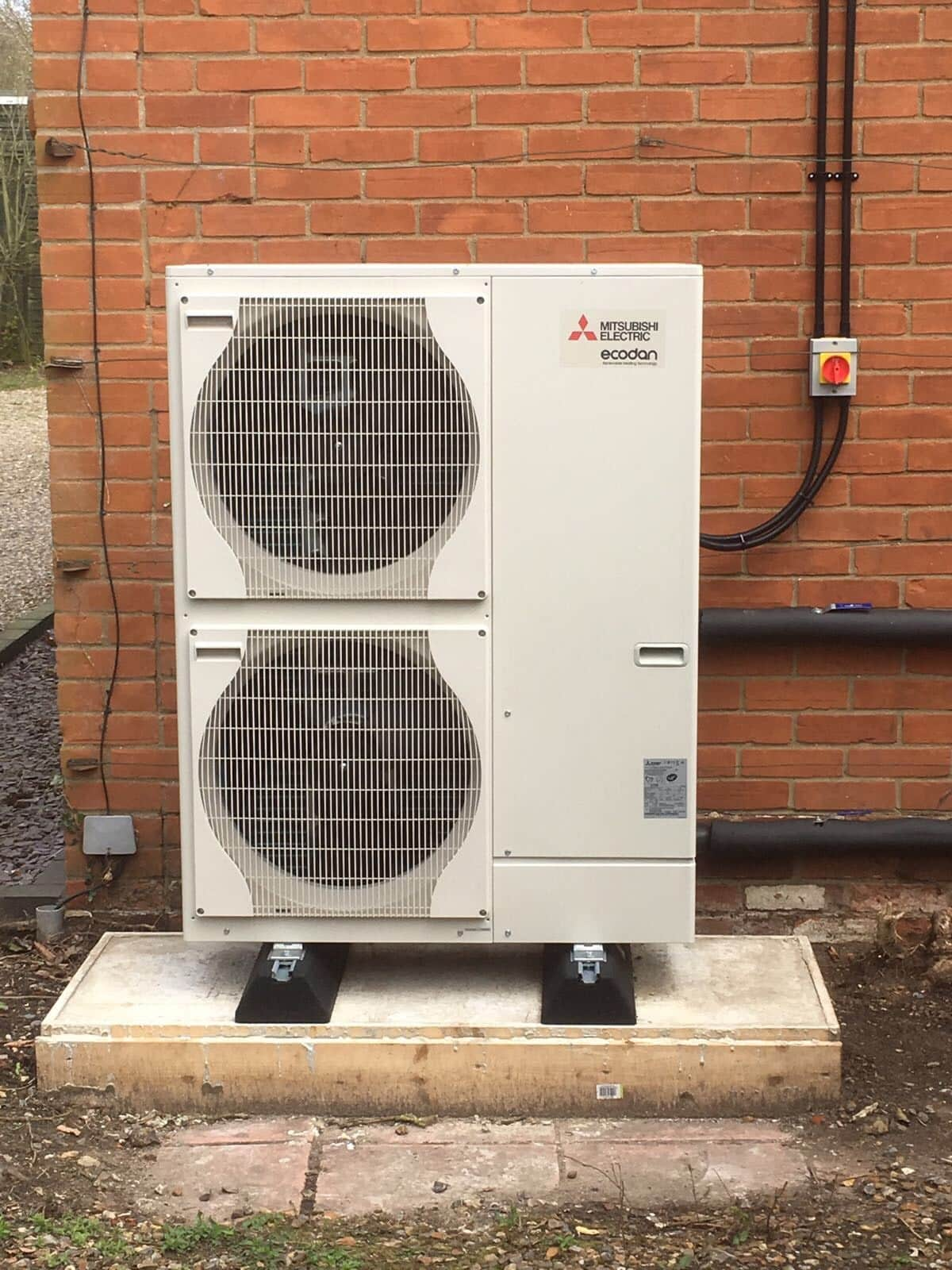 Mr Halse Air Source Heat Pump Install