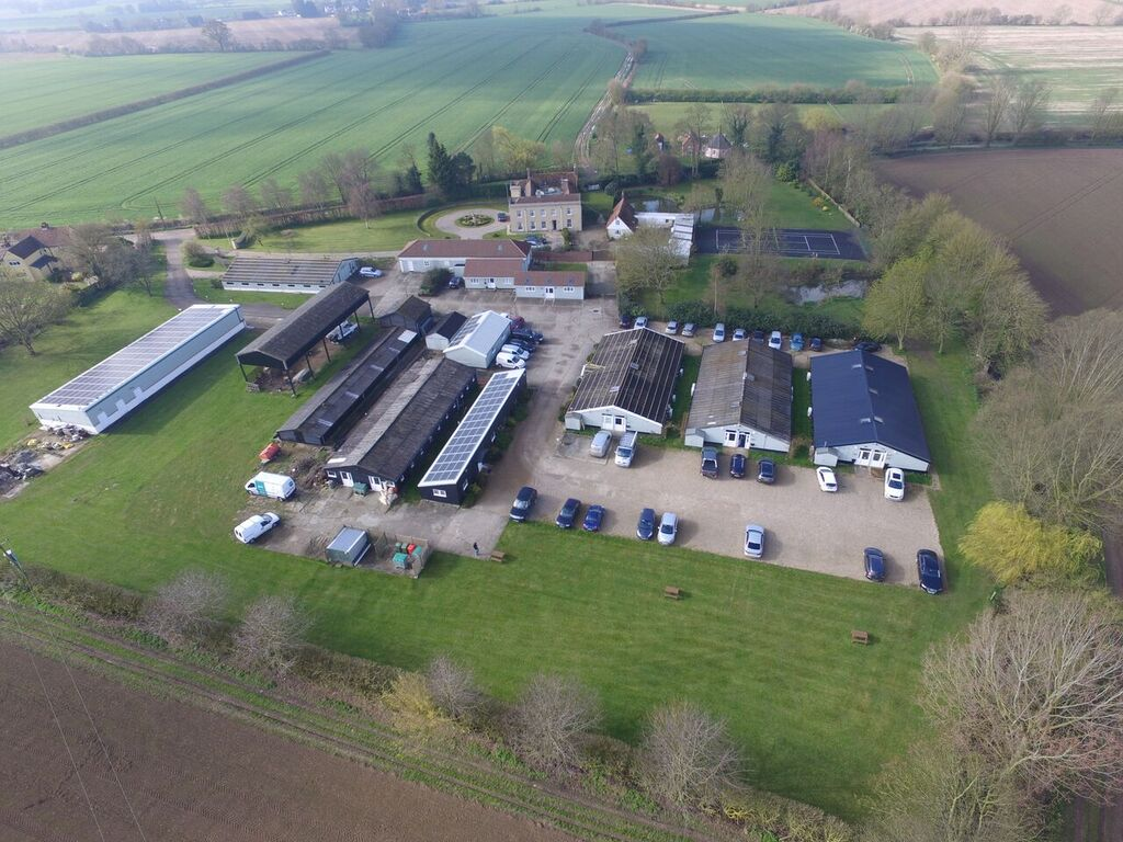 Areal View of Solar Installation
