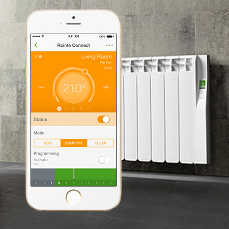 Rointe Smart Radiators and Rointe Connect smart phone application- smart heating from Greenscape Energy