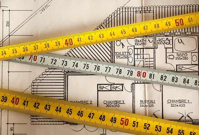 Building Plans and Tape Measures Image - Free Heat Loss Surveys from Greenscape Energy